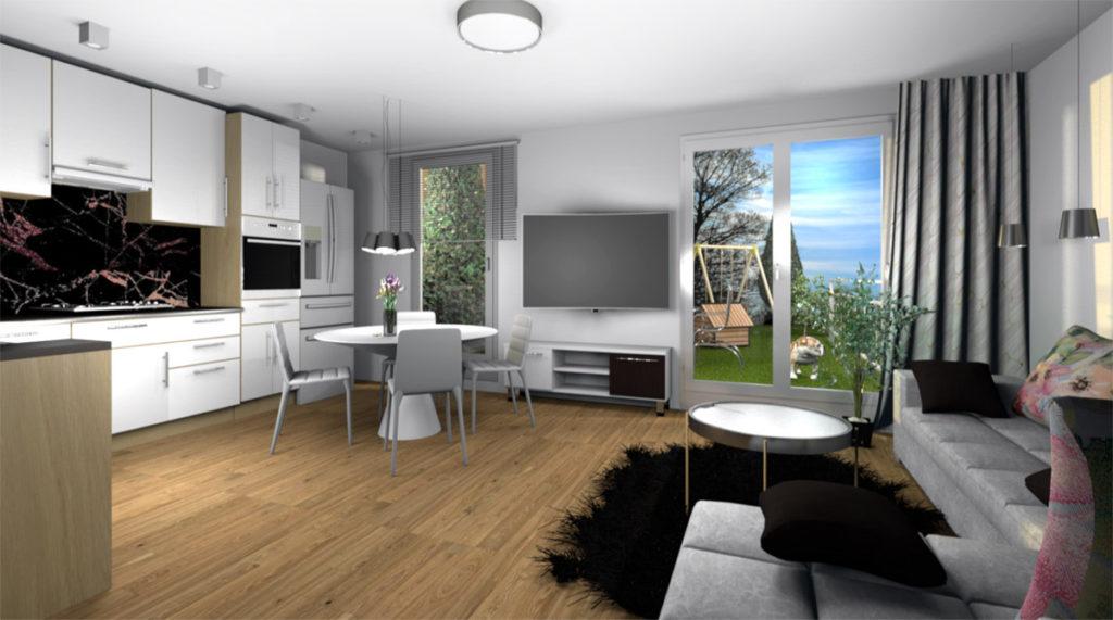 Mieszkanie Legnica ul. Podoby, dolne lewe wizualizacja